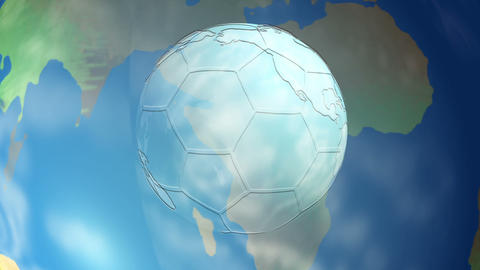 Soccer ball Earth Animation