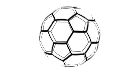 Wireframe Soccer ball Animation