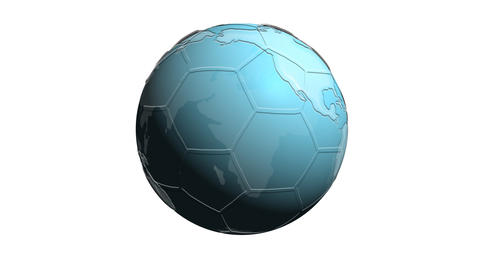 Earth with subtle soccer ball pattern Animation