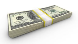 Video 4096x2304 4K - A Close-up View Of The Stack Of One Hundred Dollar Bills Is stock footage