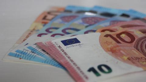 Euros Banknotes Money Footage