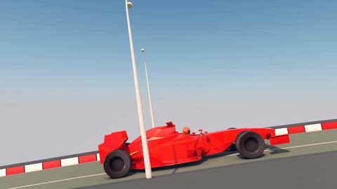 Speedy Formula One Moves Forward Animation