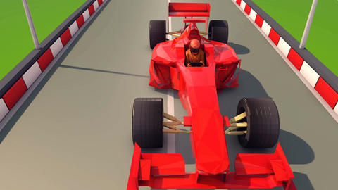 Cool Formula One Rushes Forward Animation