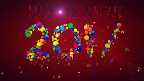 New Year 2017 Festive Balls Animation