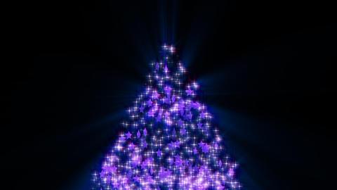 Christmas tree glitter stars shiny alpha loop-purple Animation