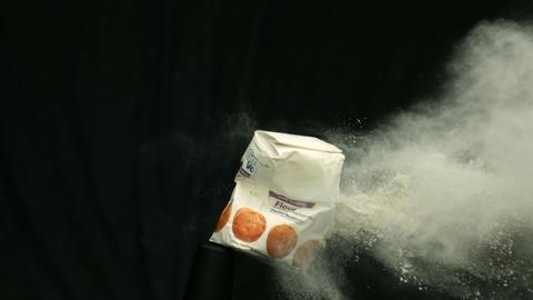 Bag of flour exploding 영상물