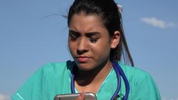 Sad Young Female Nurse Live Action
