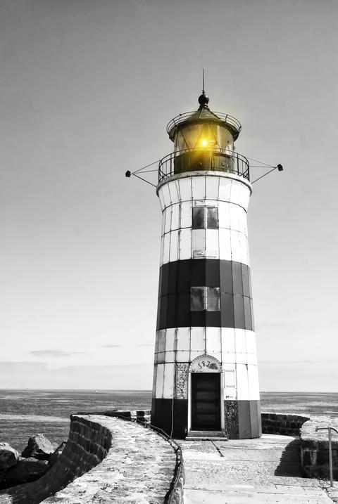 Lighthouse Schleimünde on the Baltic Sea フォト