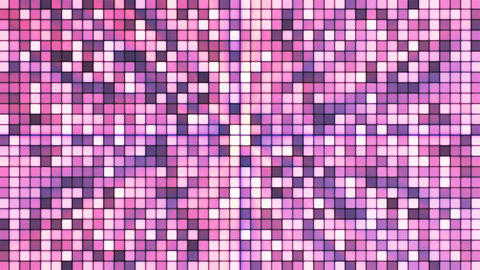 Broadcast Twinkling Hi-Tech Cubes, Purple, Abstract, Loopable, 4K Animation