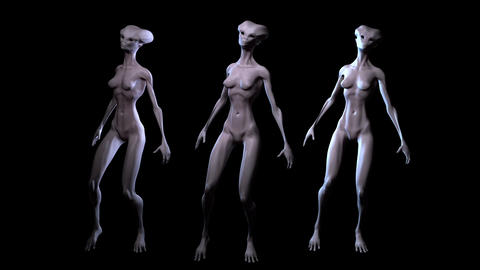 Digital 3D Animation of Aliens Animation