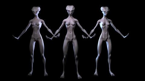 Digital 3D Animation of Aliens Animation