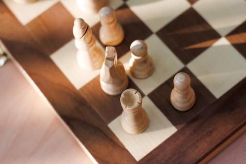 chess game white figures Photo