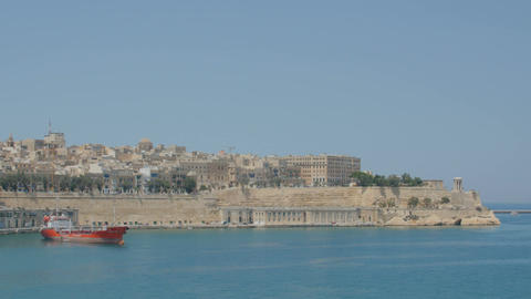 Valletta, Malta July 4, 2016 . Boats and ships in port Footage