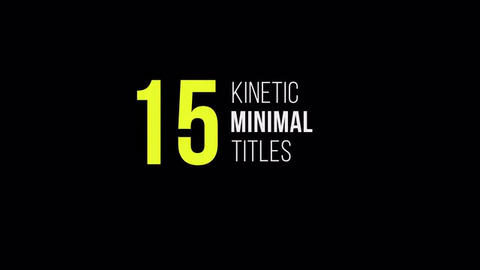 Kinetic Simple Titles Pack After Effectsテンプレート