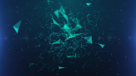 Green Blue Abstract Plexus Background Animation