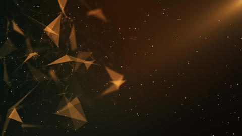Abstract Orange Plexus Background Animation
