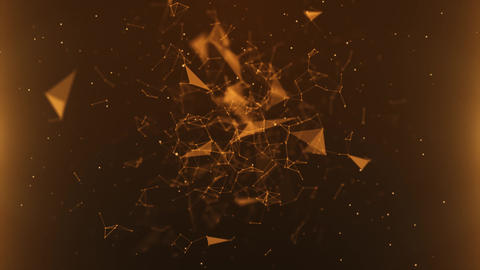 Abstract Plexus Orange Background Animation