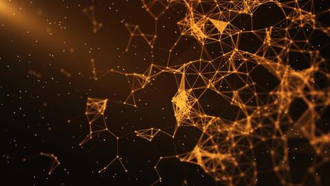 Sci-Fi Plexus Orange Background Animation