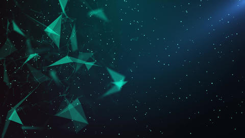 Abstract Plexus Green Blue Background Animation