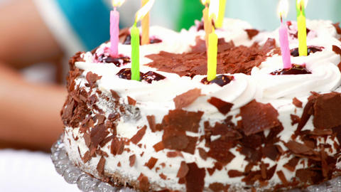Close up of a birthday cake Live Action