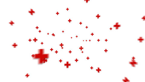 Red Cross Zooming stock footage