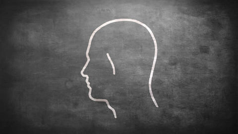 Shape of bulb in mans head Animation