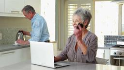 Senior woman on the phone Footage