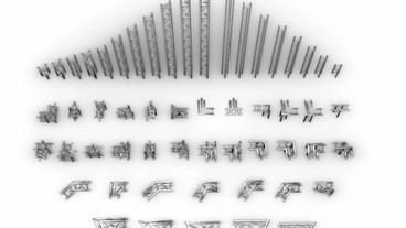 Triangular Trusses 55 Modular Pieces (Element 3d) After Effectsテンプレート