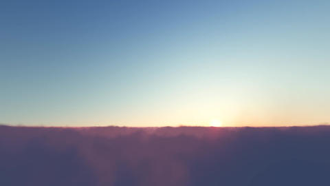 Time lapse of sunrise or sunset, above the clouds Footage