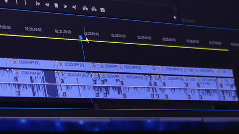 Computer screen with some groups of digits and symbols Footage