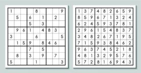 Sudoku game with the answer Vector