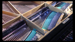 Piano internal structure Footage
