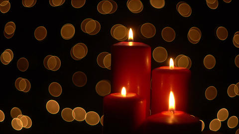 Christmas Candle lights Footage