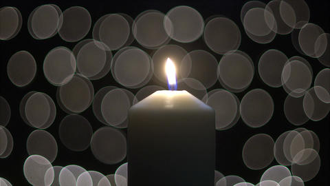 Candle lights with bokeh Live Action