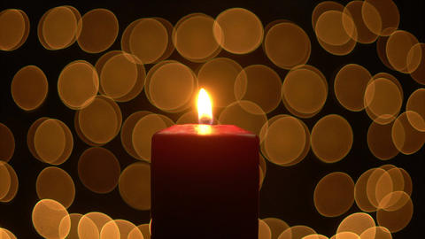 Candle lights with glow bokeh Footage