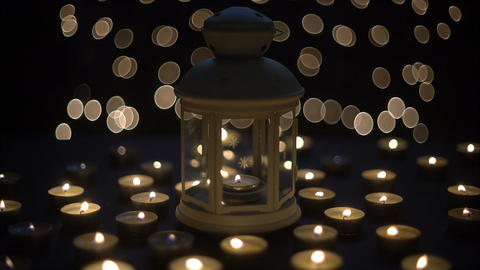Candles light with bokeh Footage
