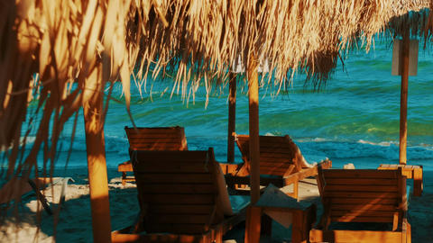 Golden Beach, Greek Islands, Greece Footage