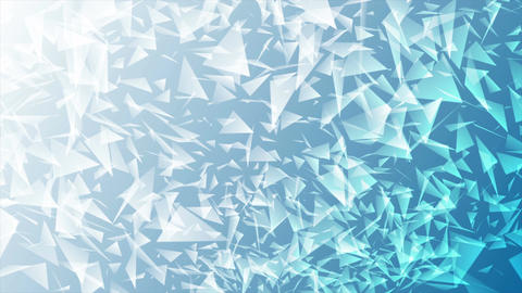 Bright blue abstract polygonal splinters video animation Animation