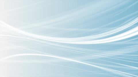 Abstract blue smooth elegant waves video animation Animation