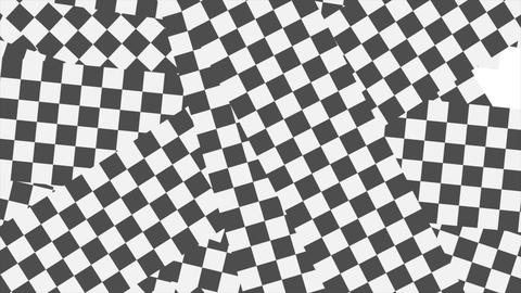 Black and white checkered geometric abstract video animation Animation