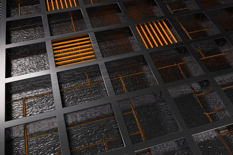 3651 Futuristic technological or industrial background made from brushed metal フォト