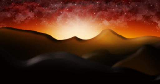 The Judean Desert With Cloud Starry Sky Background Illustration Photo