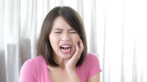 woman with toothache Footage