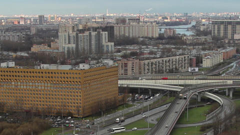 St. Petersburg aerial view time lapse Filmmaterial