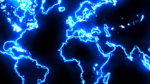 Abstract background with futuristic world map Footage