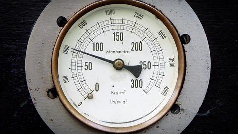 Pressure Gauge. Zoom in Shot Footage