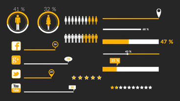Flat Infographics Plantilla de After Effects
