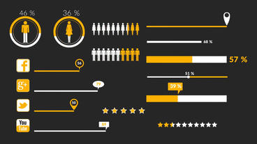 Flat Infographics After Effects Templates
