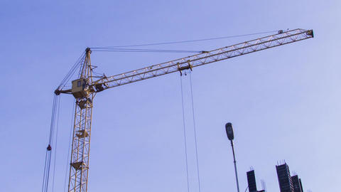 Crane working timelapse Footage