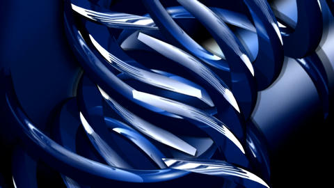 Rotating blue abstract shapes Live Action